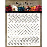 Paper Rose Stencil CHECKER PLATE - 6x6