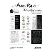 Paper Rose SENTIMENT SHEETS - CRISP CHRISTMAS