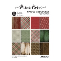 Paper Rose Paper Collection - KRAFTY CHRISTMAS - A5