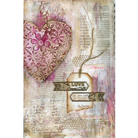 Scrap FX Collage/Rice Paper - PINK SWEETHEART
