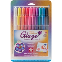 Sakura Gelly Roll Glaze Bold Point Pens 10/Pkg