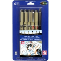 Sakura Pigma Manga Comic Pro Drawing Kit BLK