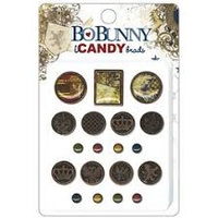 BoBunny Brads - CAMBRIDGE - 19 piece variety pack
