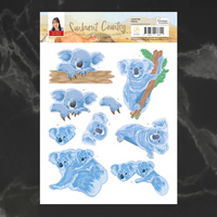Couture Creations A4 Decoupage Sheet - KOALA