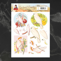 Couture Creations A4 Decoupage Sheet - COCKATOO