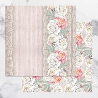 Couture Creations - PEACEFUL PEONIES 12 x 12 Paper