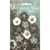 Green Tara - CHERRY BLOSSOMS - BLACK & WHITE TONES