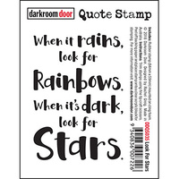 Darkroom Door Quote Stamp - LOOK FOR STARS