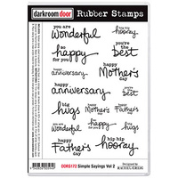 Darkroom Door Rubber Stamp Set - SIMPLE SAYINGS Vol 2