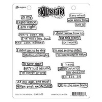 Dylusions Cling Mount Stamps - OLD IS THE NEW BLACK