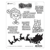 Dylusions Cling Mount Stamps - ELF IMPROVEMENT CLASS