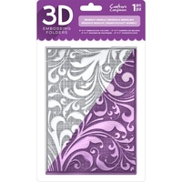 Crafters Companion 3D Embossing Folder - REGENCY SWIRLS