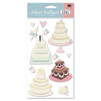 Jolee's Dimensional Stickers - WEDDING CAKE