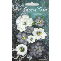 Green Tara - FANTASY BLOOMS - BLACK & WHITE
