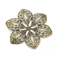 Metal Filigree FLOWER - Bronze - Style #2 - 25 Pk