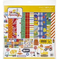 "Photoplay Paper Collection 12"" x 12"" - LITTLE BUILDER"
