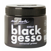 Mont Marte - BLACK GESSO 500ml