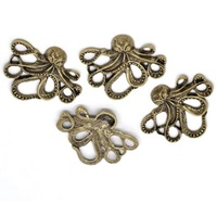 Metal Embellishment Large OCTOPUS Bronze 5PK