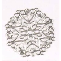 Metal Filigree - ROUND - Silver - Style #3