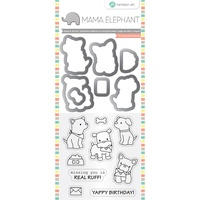 Mama Elephant Stamp Die Set - PUPPY PLAY