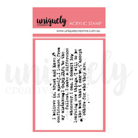 Uniquely Creative TEXT MARK MAKING MINI STAMP
