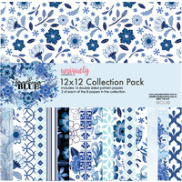 "Uniquely Creative 12""x12"" Paper Pack SOMETHING BLUE"